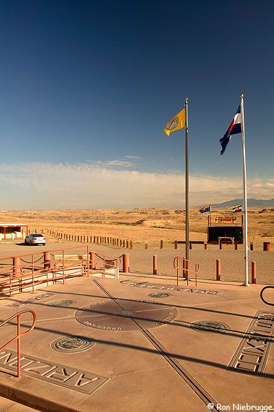 The Four Corners Monument; the point where Colorado, Arizona, New Mexico and Utah state lines meet..... Be in 4 states at once! >>> I'm really a sucker for things like this, have you been?