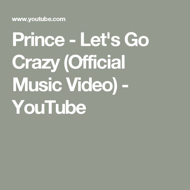 Prince - Let's Go Crazy (Official Music Video) - YouTube