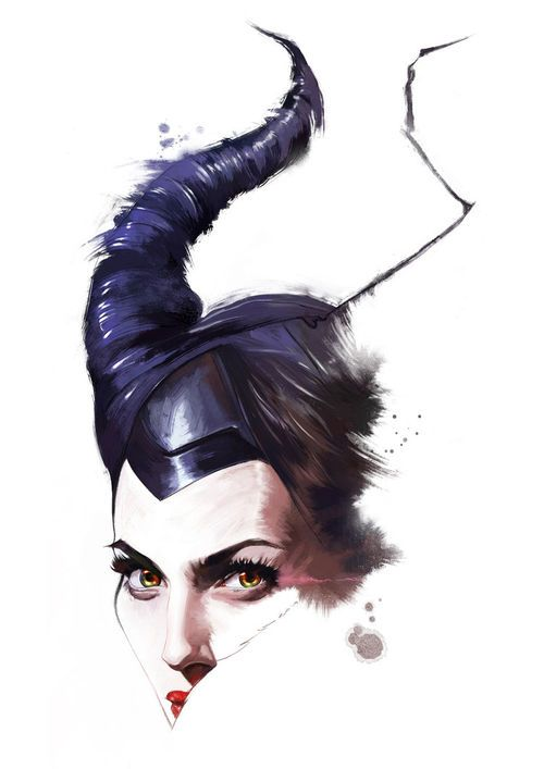 Drawing, Maleficent - Angelina Jolie