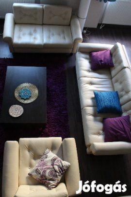 Jó állapotú, elegáns ülőgarnitúra eladó: 5 éve teljesen felújított, kényelmes…