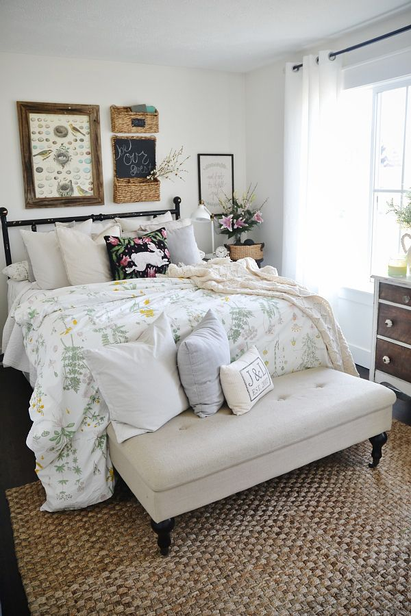 25 best ideas about ikea duvet on pinterest nightstand lamp farmhouse bedrooms and bedroom - Spring bedding makeover ideas ...
