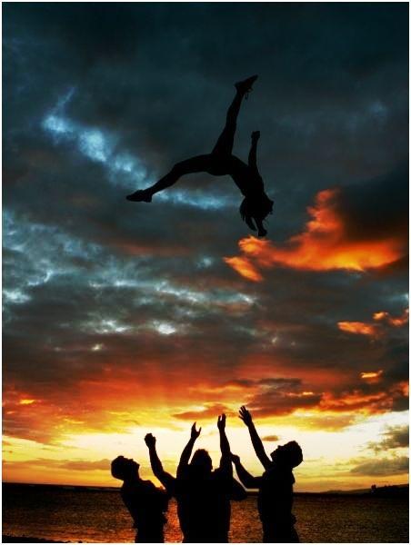 Miss this sport everyday!! Cheerleading Stunt