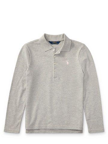Girls 7 - 12 years Cotton Long-Sleeve Polo - Girls 7 - 12 years Shop All - Ralph Lauren UK