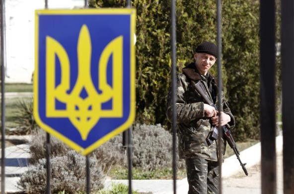 PHOTO: Ukrainian soldier, village of Lyubimovka near local airfield, SW of Simferopol March 3. #Ukraine