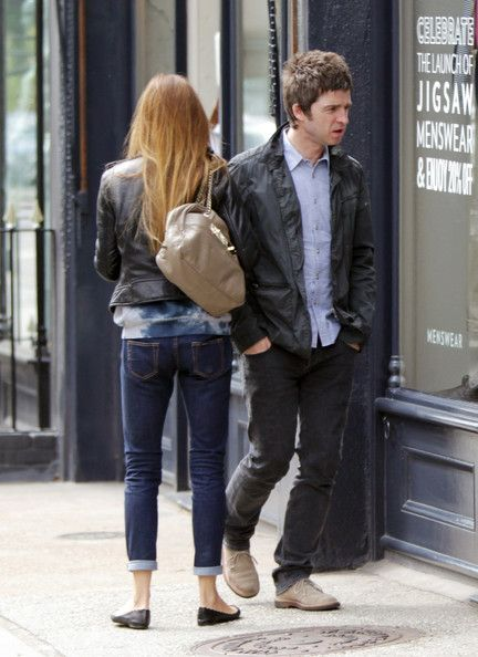 Noel Gallagher Shops London with His Wife Sara MacDonald