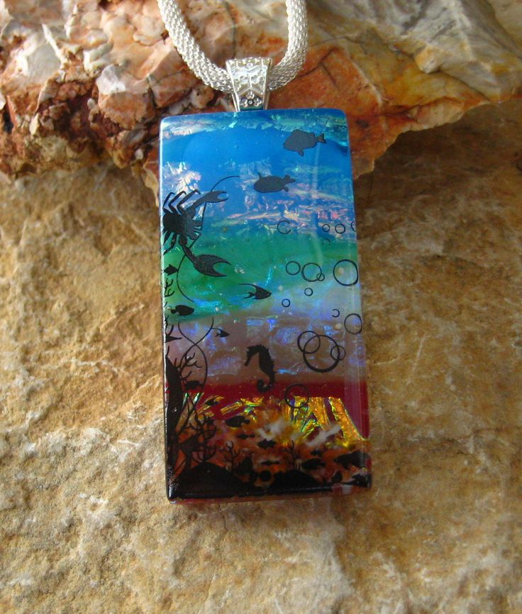 431 best aa jewelry ideas fused glass images on pinterest new to glasscat on etsy beach jewelry landscape pendant dichroic glass pendant fused glass pendant mozeypictures Choice Image