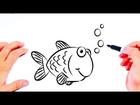 تعليم الرسم رسم سمكة سهلة للاطفال رسم سهل رسومات بالرصاص Easy Drawings Youtube Cards