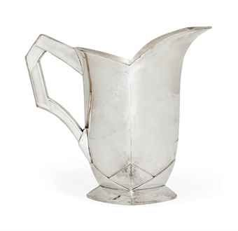 A LOUIS SÜE 'GALLIA' METAL JUG BY CHRISTOFLE