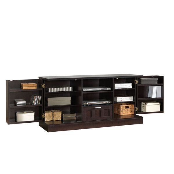 tosato brown modern tv stand and media cabinet overstock shopping great deals on