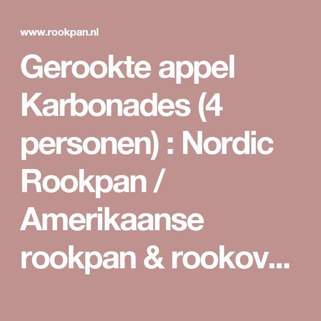 Gerookte appel Karbonades (4 personen) : Nordic Rookpan / Amerikaanse rookpan & rookoven die meer kan, Rookpan & rookoven voor binnen en buiten. Zeer compleet geleverd met houtsnippers, recepten en instructie DVD.