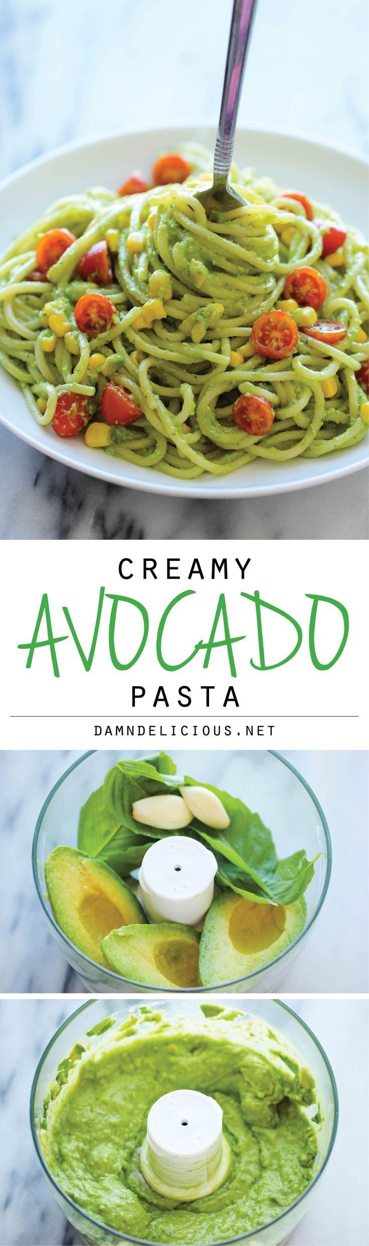 Clean Eating Avocado Pasta Recipe