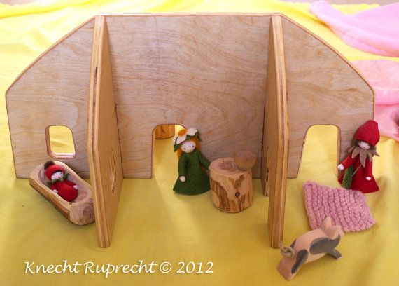 Portable Waldorf Dollhouse Large Imaginative By KnechtRuprecht   I Love  That It Can Be Dismantled And