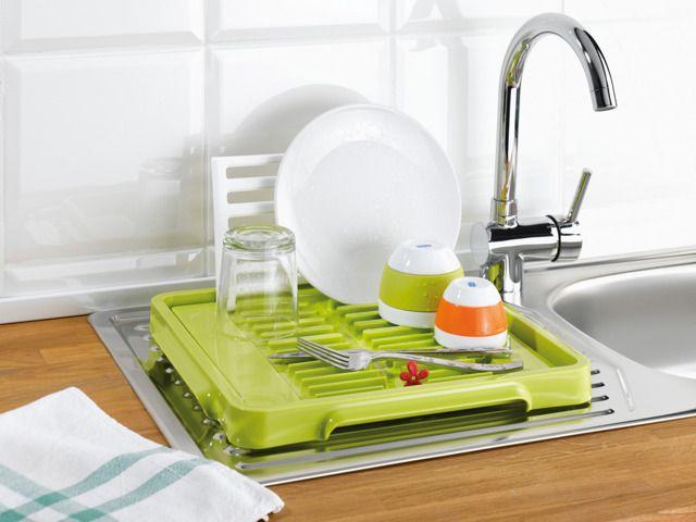 Suszarka do naczyń - składana, pojemna, bardzo ożżżywiająca. Letnia atmosfera nawet podczas mycia naczyń!