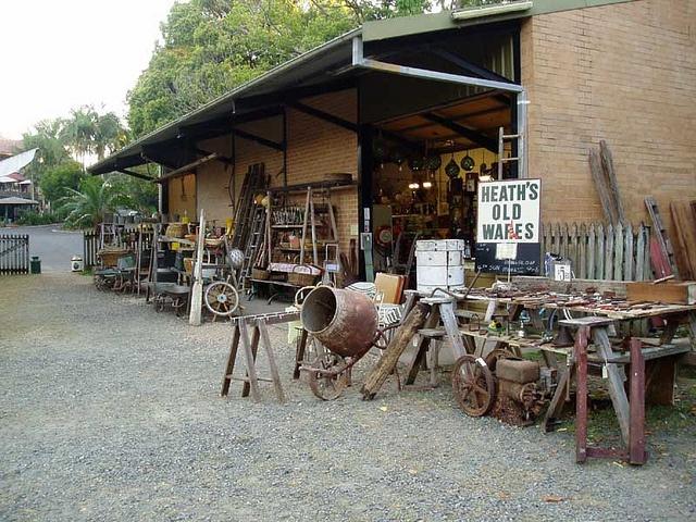 Heaths Old Wares 12 Station Street Bangalow Byron Bay Hinterland Industrial Antiques by heaths old wares collectables and industrial antiq, via Flickr
