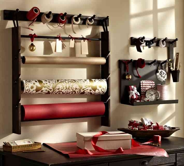 Wrapping paper station from pottery barn office craft for Pottery barn laundry room