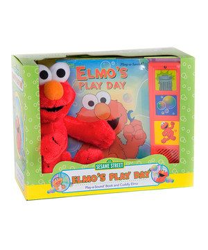 Go along with Elmo as he sets out in search of a playmate for play day. Plush Elmo can sit tucked on a little one's lap as they press the sound buttons on this brilliant book and follow along with the story.