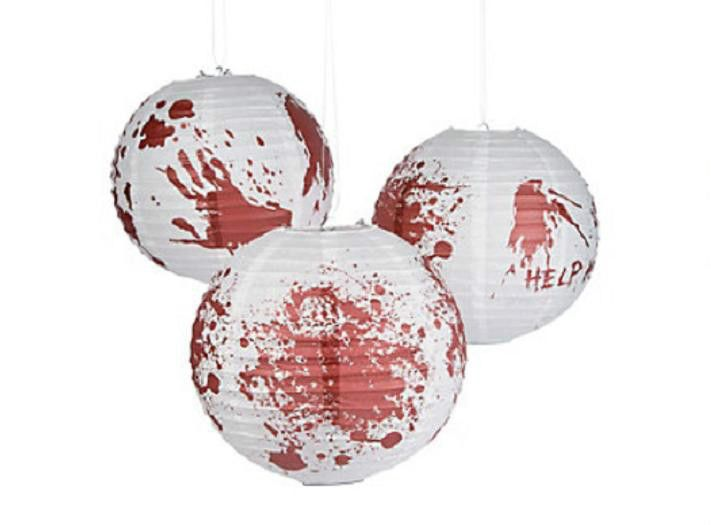 "6 HALLOWEEN Party Decorations ZOMBIE Walking Dead BLOODY 12"" BALLOON LANTERNS #Halloween"