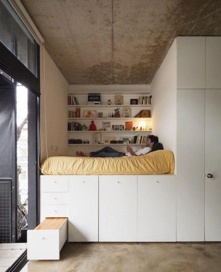 Halbhochbett mit schrank  Hochbetten Erwachsene Kleine Wohnung | Möbelideen
