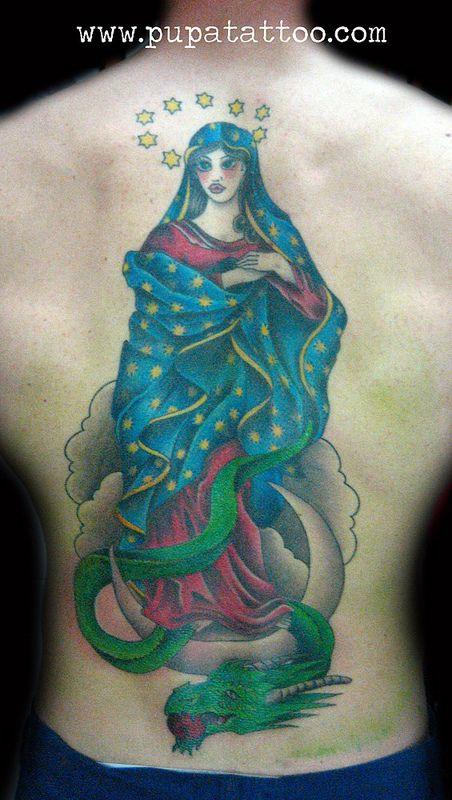 Tatuaje virgen Pupa Tattoo Granada