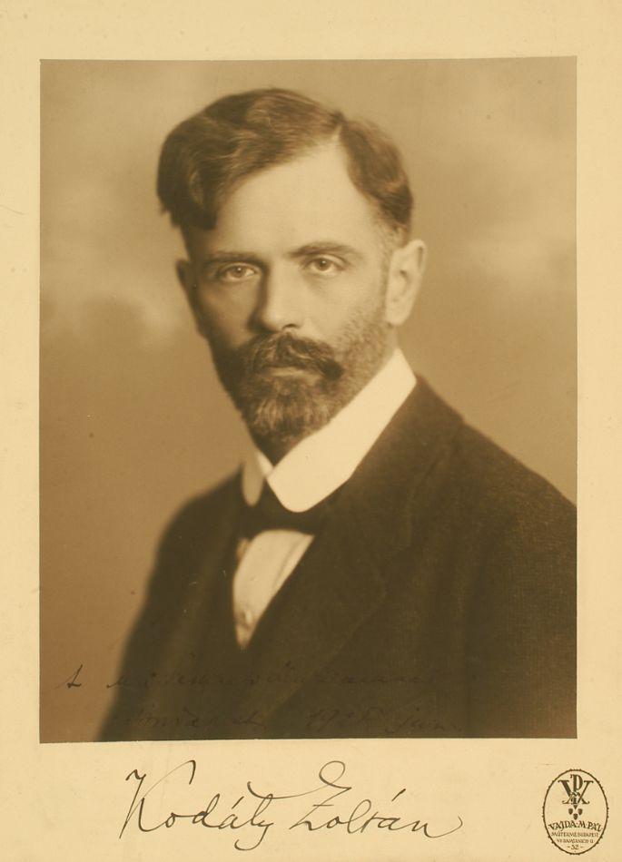 Kodály Zoltán, 1928. – Fotó, Zeneműtár