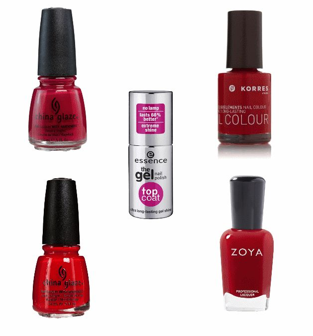 red nail polishes for valentine's day