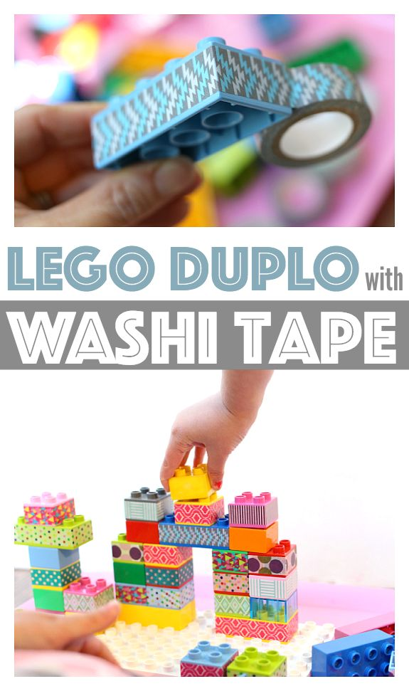 Use washi tape to transform your lego duplo blocks into fresh new blocks to build with. Matching and counting activities too! http://www.modes4u.com/en/cute/c247_Washi-Masking-Tapes.html