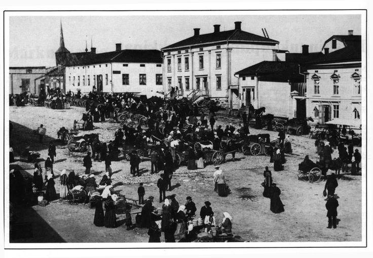 Salutorget i Kristinestad. Torgdag 1894