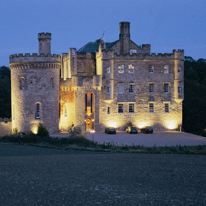 Dalhousie Castle - In Scotland! I'm dreaming when I say this is where I want to stay. They do rent rooms out and have cool dungeon restaurant and luxury spa but I'm sure it's very expensive!