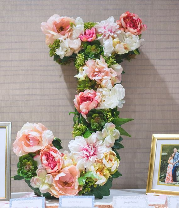 114 best floral images on pinterest diy paper flowers and this beautiful customized 19 floral letter or number is perfect for a bridal shower wedding negle Images