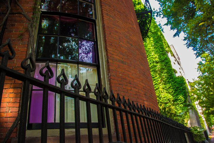 A violet-tinted window in Beacon Hill. By Kevin on Flickr/Creative Commons.