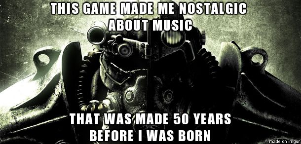 Nostalgic songs #Fallout via Reddit user benjamminxx