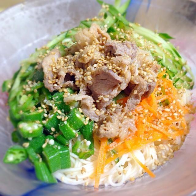 さっぱり食べたいヘルシーな麺です! - 23件のもぐもぐ - 冷しゃぶそうめん by chikapeee