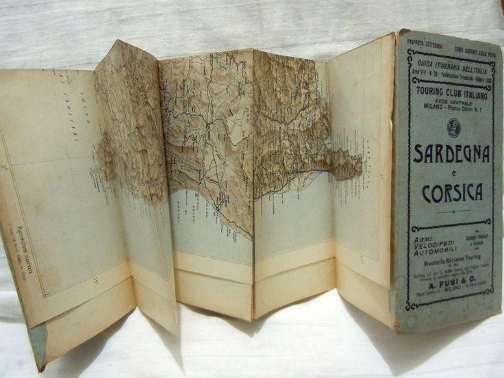 Mappa TOURING CLUB ITALIANO_Cartina SARDEGNA E CORSICA_Maggio 1902 | Arte e antiquariato, Mappe, atlanti e mappamondi, Mappe, cartine e atlanti | eBay!