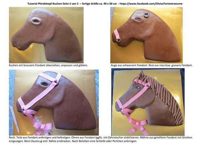 Silvia's Tortenträume: Pferdekopf-Kuchen Tutorial - Seite 2 von 3 Kuchen Anleitung Cake Horse