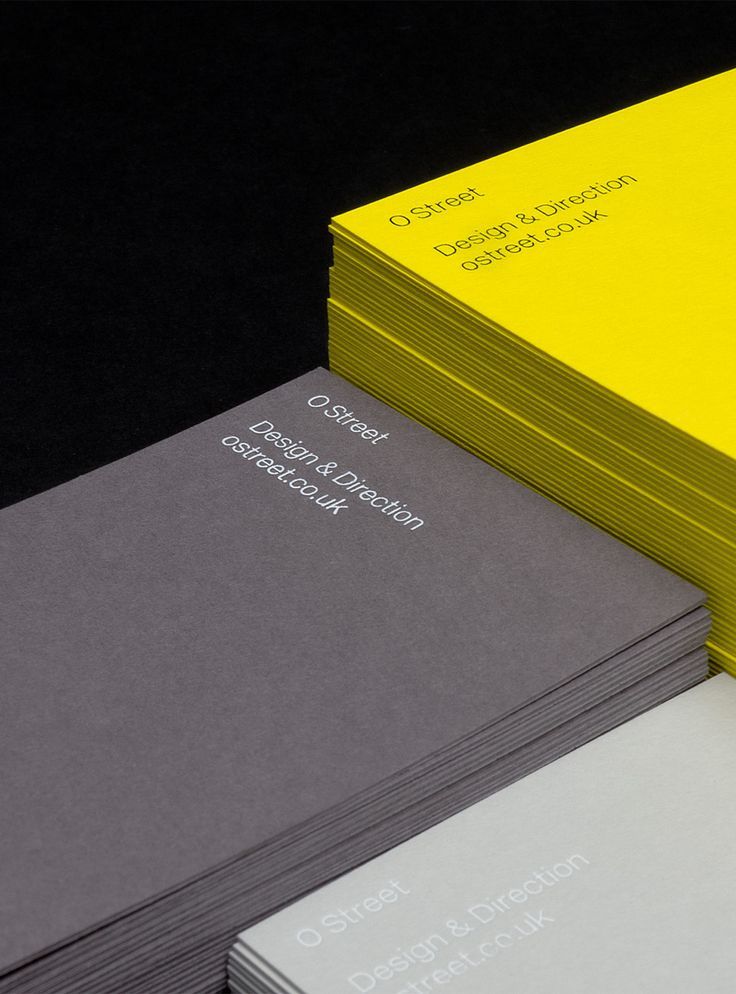 Brand identity and stationery for O Street.