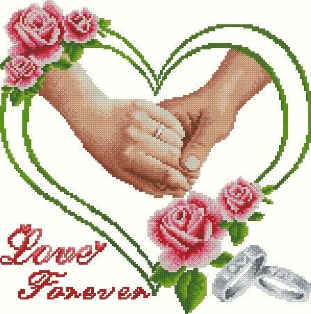 Free shipping 14 counted  aida Cross stitch rose by happykatehehe, $18.99 couple/wedding
