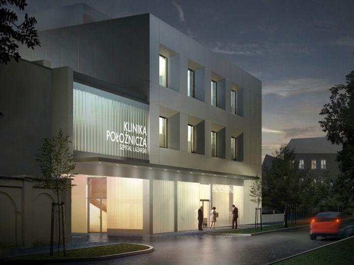 Łazarski Hospital in Poznań - design by Archimed Architecture, rendering