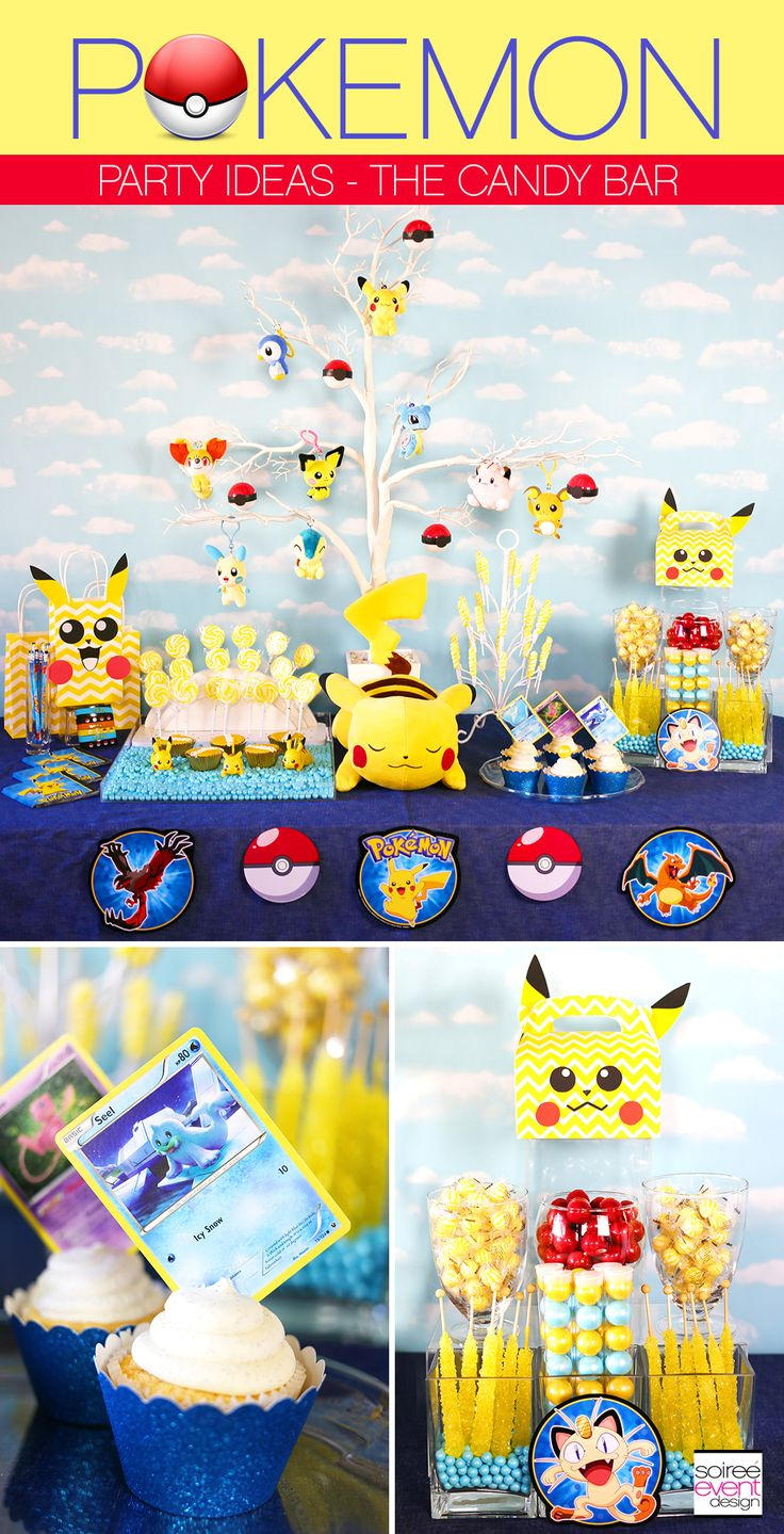 Pokemon Party Ideas – How To Set Up A Pokemon Candy Bar