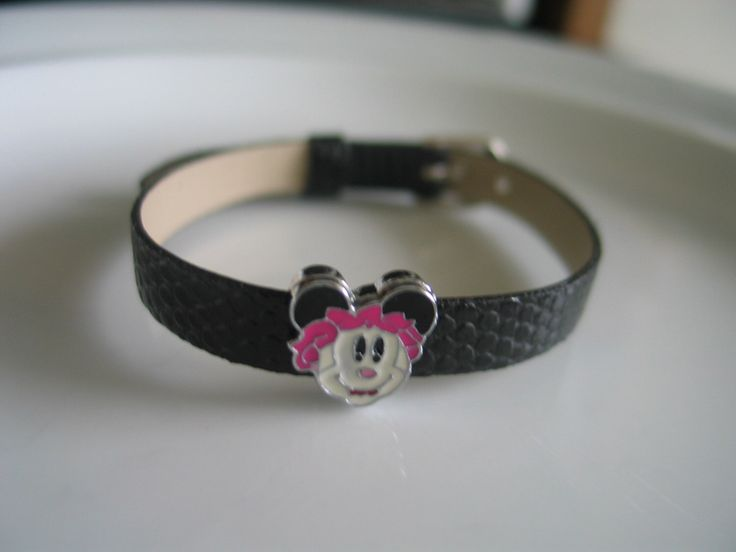 Mouse - Girl charm black watch band bracelet - gift for children - gift for girls, mouse charm bracelet, bracelet for children, kid bracelet by LeeliaDesigns on Etsy https://www.etsy.com/listing/172016458/mouse-girl-charm-black-watch-band