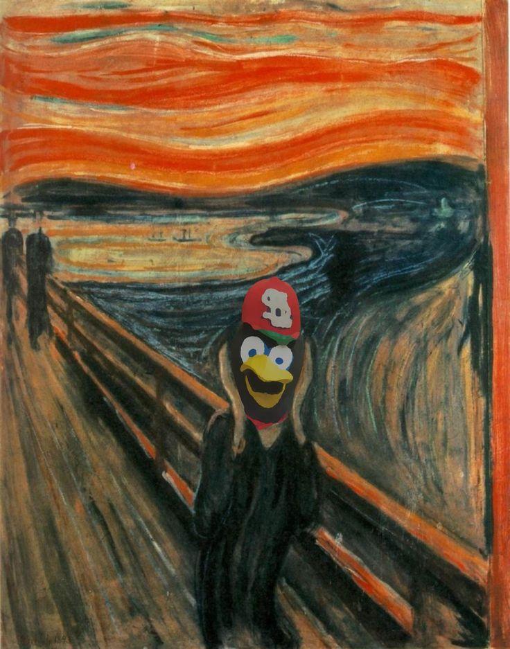 """(27) Twitter...Tim McCarver invokes """"The Scream"""" over Cards' baserunning (TOOTBLANS)"""