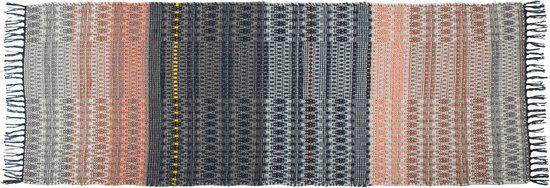 Zuiver Salmon - Vloerkleed - Zwart/Roze - 80x200 cm