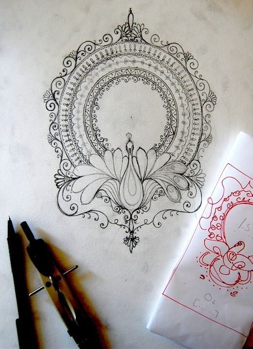 Rangoli Art work for O2 by Humna Mustafa, via Behance This is a pretty tattoo idea