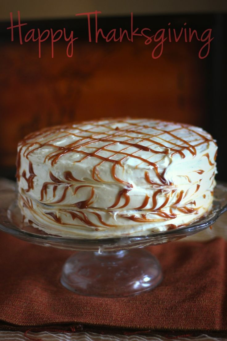 spice layer cake with caramel cream cheese frosting the cake pumpkin ...