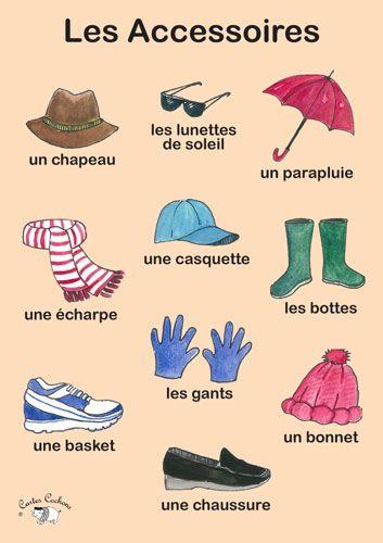 Poster - Les Accessoires - Little Linguist