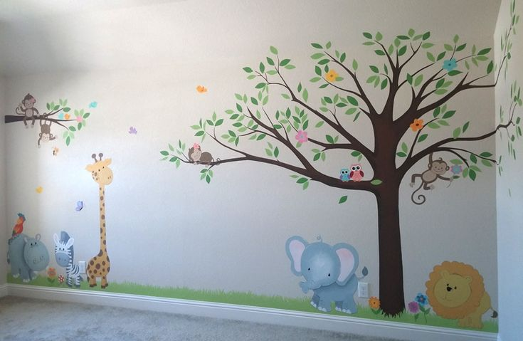 Nursery Murals  - Leila's Art Corner - Face Painting, Balloons, Kids Parties, Murals, and Art for Kids. Serving the Dallas / Fort Worth (DFW) area.
