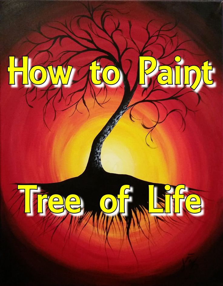 Tree of Life Step by Step Acrylic Painting on Canvas for Beginners