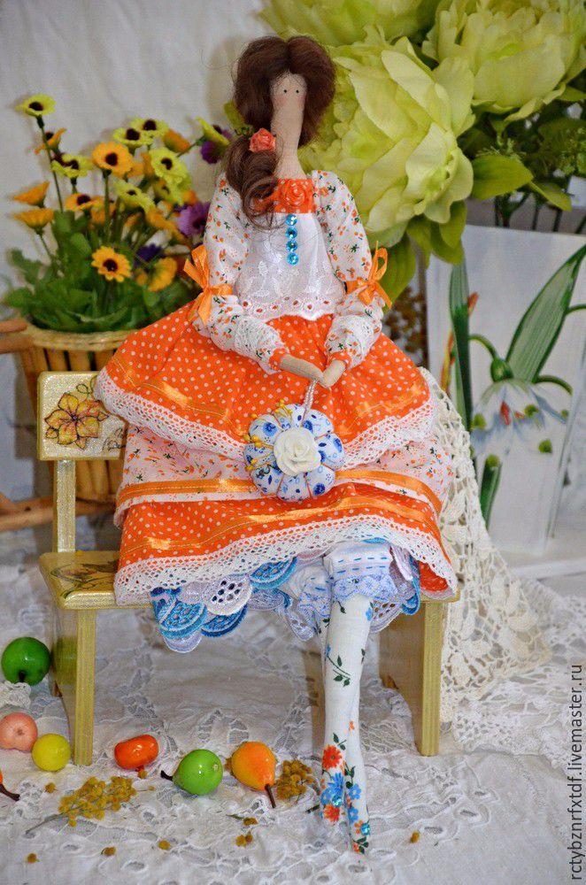 Купить Тильда кукла Аврора текстильная, интерьерная. - рыжий, кукла ручной работы, кукла ☆
