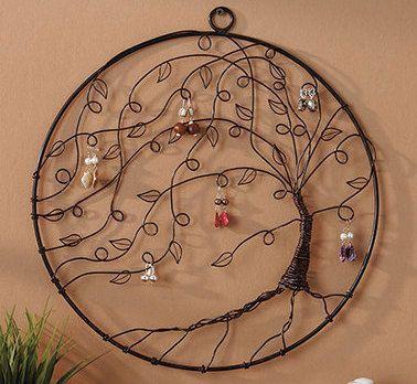 Tree of life Jewelry holder - Colgador de Joyería en forma de árbol .... Quiero!!!