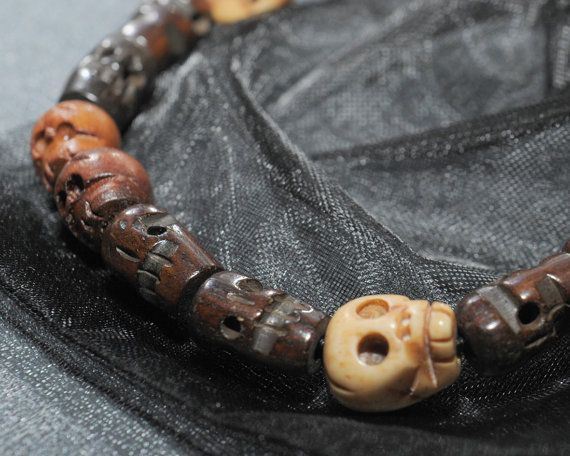 Grab yourself a piece of stunning Supernatural cosplay kit right here in the form of Dean Winchesters skull bracelet; we reckon its a pretty close match to the actual prop that he wears in the TV show.  We source the genuine mala skull beads for this bracelet from monks in Nepal who hand carve each one for us from natural materials including wood (they are NOT resin, plastic or acrylic). They are carved in a traditional artisan way making the finished bracelet a unique piece with a gorgeous…