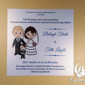 Nyomtatott esküvői meghívó 67. #esküvői #meghívó #nyomtatott #esküvőimeghívó #egyedi #kisfiú #wedding #weddinginvitation #bride #groom #babyboy